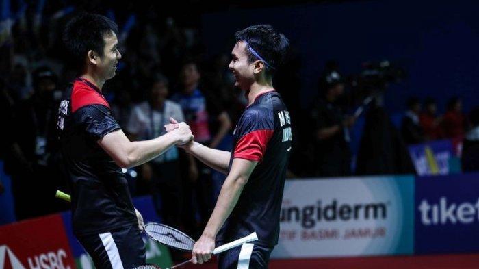 UPDATE Indonesia Open 2019, Lewat Drama Tiga Gim, Ahsan/Hendra Pastikan Tiket Final