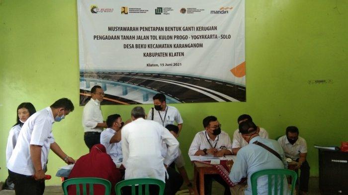 UPDATE Jalan Tol Yogyakarta-Solo di Klaten, 19 Tanah Kas Desa Beku Ikut Digilas Tol