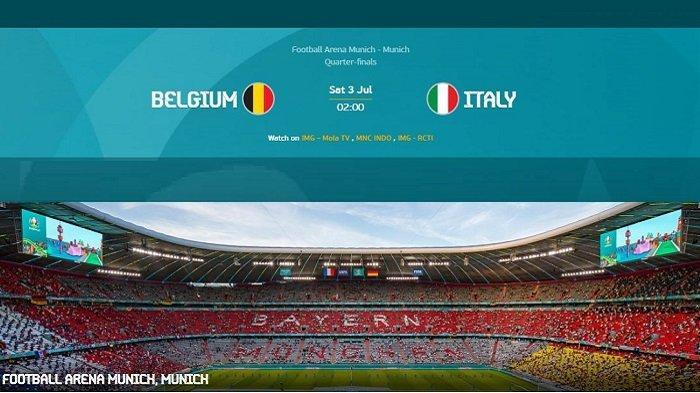 Update Pemain & Kondisi Skuad BELGIA vs ITALIA - Siaran Langsung EURO Hari Ini di Channel TV Partner