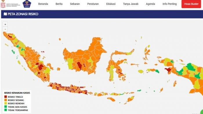 Peta Sebaran Zona Merah Covid-19 di Indonesia Per Tanggal 18 Juli 2021, Berikut Rinciannya