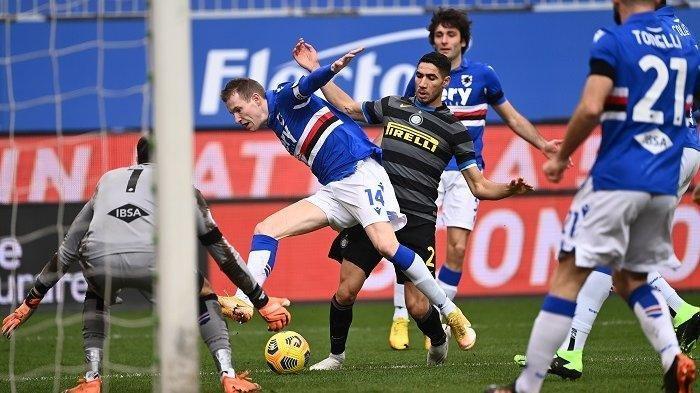 Sampdoria vs Inter Milan, Liga Italia
