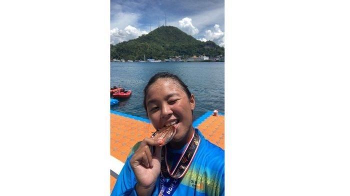 Valeria Paulini Yuwono Sumbang Medali Perunggu di Ajang PON XX Papua Cabor Renang Perairan Terbuka