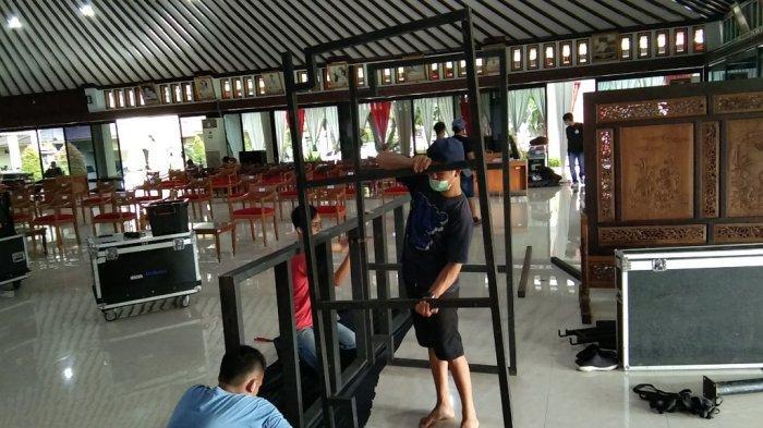 Besok Gladi Bersih, Persiapan Venue Pelantikan Bupati dan Wabup Klaten Ditarget Rampung Hari Ini