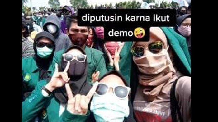 Video Viral Mahasiswi di Lampung Diputus Pacar Gara-gara Ikut Demo UU Cipta Kerja, Akhirnya Balikan
