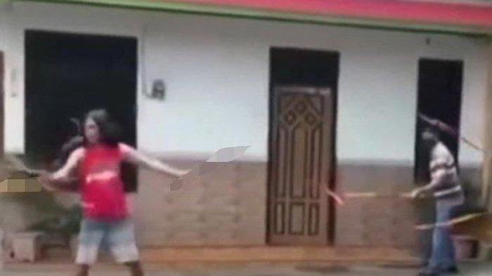 Video Viral Pria Bersenjata Samurai Ngamuk, Ditembak Tak Mempan, Ternyata Polisi Pakai Pepper Spray
