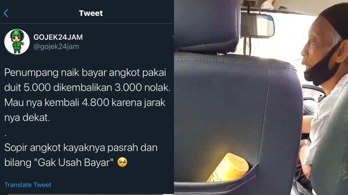VIRAL di Twitter, Penumpang Ini Ngotot Hanya Mau Bayar 200 Perak Saat Naik Angkot Karena Dekat