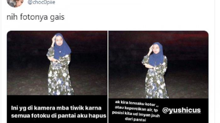 Viral Cerita Horor Foto Gadis Pakai Baju Hijau di Parangtritis Ketika Matahari Tenggelam