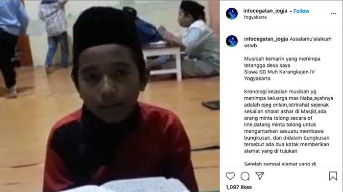 Viral Medsos, Anak SD di Yogyakarta Meninggal Setelah Makan Lontong, Ibu Tidak Sadarkan Diri