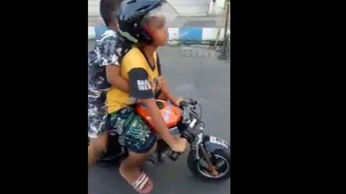 Viral Medsos: Dua Anak Kecil Ditilang Polisi kerena Naik Motor Mainan, Begini Kabar Terbaru Mereka