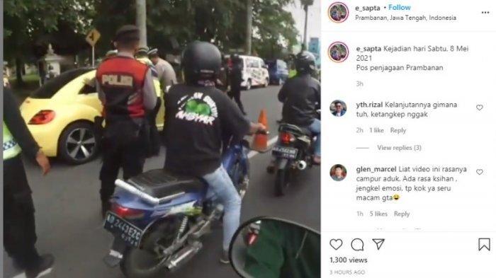 Viral Video Pengendara Mobil Terobos dan Tabrak Polisi di Pos Penyekatan Mudik di Prambanan