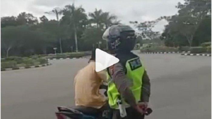 Viral Video Pengendara Motor Kabur saat Ditilang Polisi, Tak Hanya Melawan Arus, Istrinya Ditinggal