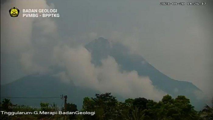 Kamis 21 Januari 2021 Pagi, Masih Terjadi Awan Panas Guguran Gunung Merapi Berjarak Luncur 1,2 Km