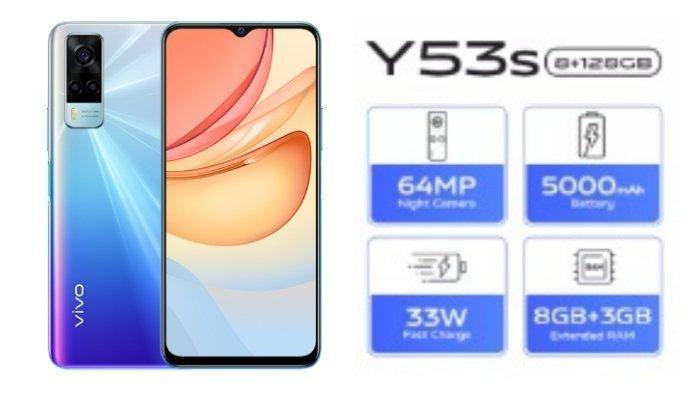 Spesifikasi dan Harga VIVO Y53s, Smartphone dengan Tampilan Mewah, Ram Hingga 11 GB