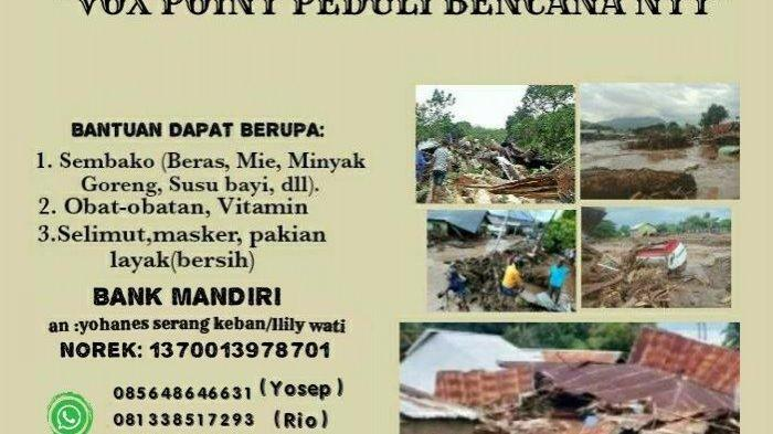 DPD Vox Point Indonesia DIY Galang Bantuan untuk Bantu Korban Bencana di NTT