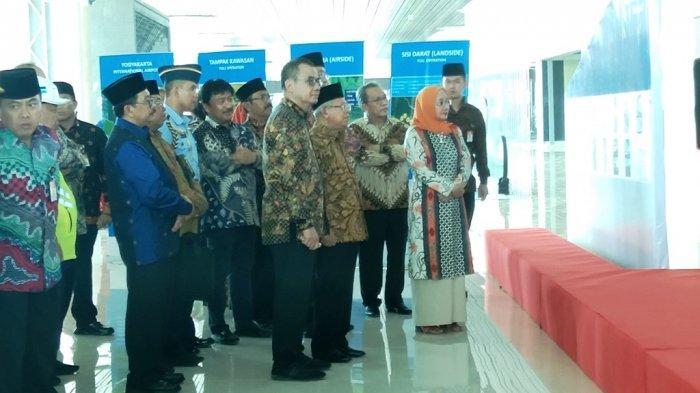 Wapres Ma'ruf Amin Tinjau Progres Pembangunan Bandara YIA