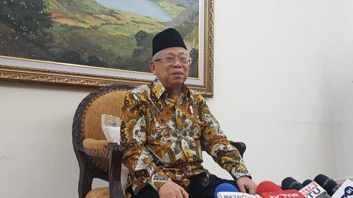 ILUSTRASI - Wapres Maruf Amin saat memberikan keterangan pers di Kantor Wapres, Jalan Medan Merdeka Utara, Jakarta Pusat, Kamis (13/2/2020).