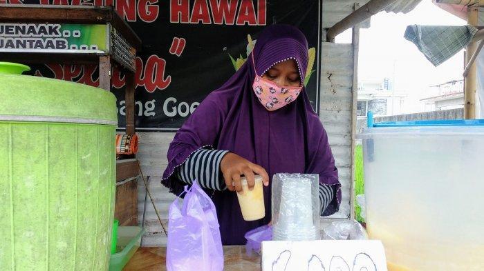 Warga Bantul Kreasikan Jagung Jadi Es Jagung Hawai Bang Goedi yang Menyegarkan