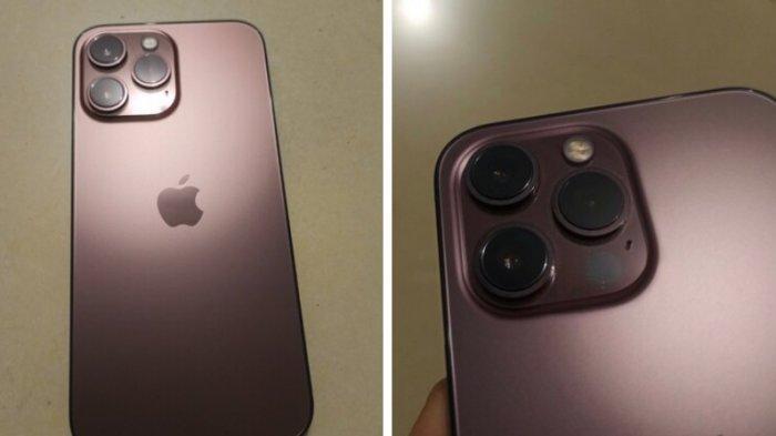 Warna baru Rose Gold yang diduga tersedia untuk iPhone 13 Pro.
