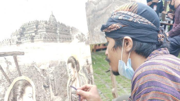 Pelukis Asal Magelang Wawan Geni, Melukis dengan Obat Nyamuk, Karyanya Terjual ke Penjuru Dunia