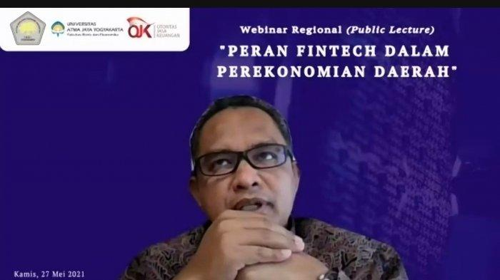 FBE UAJY dan OJK DIY Gelar Webinar Kuliah Umum, Diskusikan Perkembangan Fintech di Indonesia