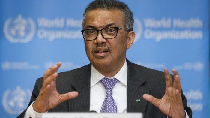 Tedros Adhanom Ghebreyesus, Direktur Jenderal Organisasi Kesehatan Dunia (WHO) menyatakan bahwa Covid-19 sebagai pandemi global EPA-EFE/SALVATORE DI NOLFI