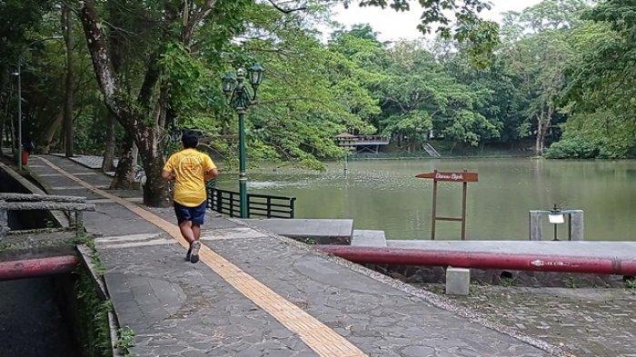 Wisdom Park atau Taman Kearifan UGM terbentang dari pertigaan Fakultas Kedokteran Hewan UGM hingga perempatan Sagan.