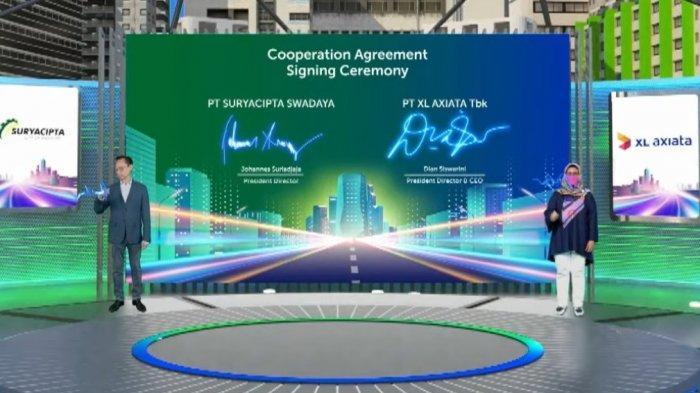 XL Axiata – Suryacipta SwadayaGelar Jaringan Fiber Optik dan Solusi Bisnis di Karawang