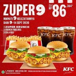 Hore! Promo KFC Zuper 9 Periode 9-14 September 2020, Baru Mulai