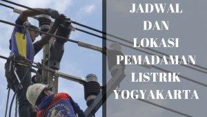 Info Lokasi Pemadaman Listrik PLN Sementara di Wilayah DIY ...