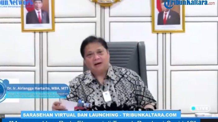 Positif di Tiga Persen, Airlangga Hartarto Sebut Pertumbuhan Ekonomi Indonesia Terkontraksi