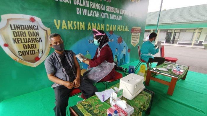 Total 543 Dosis Pertama Tuntas Disuntikkan ke Masyarakat, Kodim 0907 Tarakan Vaksinasi Selama 4 Hari