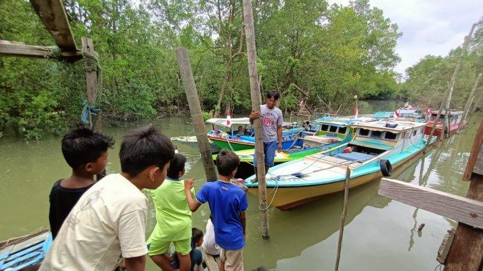 Aktivitas warga yang bekerja sebagai nelayan. TRIBUNKALTARA.COM/ANDI PAUSIAH
