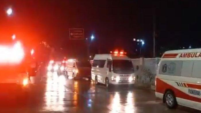 VIDEO VIRAL Rumah Sakit Darurat Wisma Atlet, Banyak Ambulans Antre dan Seluruh Lampu Gedung Menyala