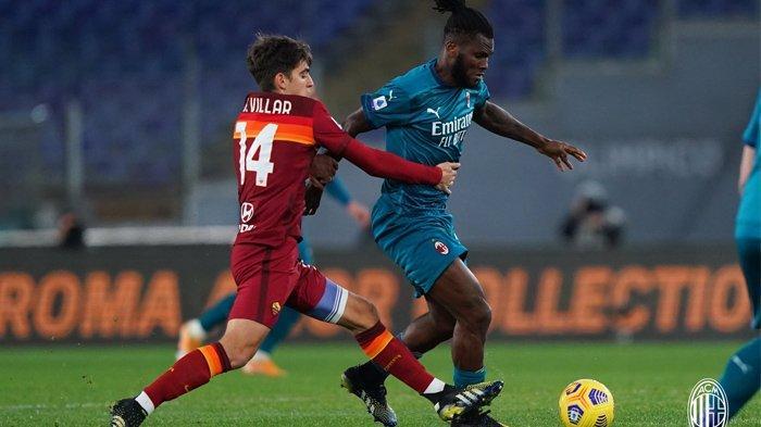 Duel AS Roma vs AC Milan di Liga Italia, Senin (01/03/2021). (Twitter / @acmilan)
