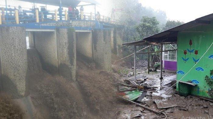 Banjir Bandang Terjang Gunung Mas Puncak, Ratusan Warga Dievakuasi, Air Bendung Katulampa Jadi Hitam