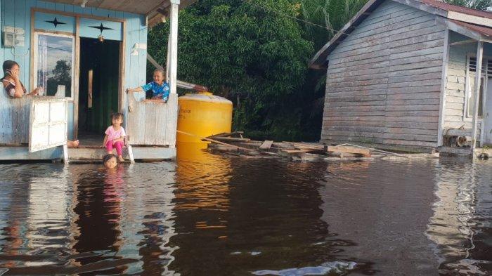 Meski Air Naik Capai 3,60 Meter, Status Tanggap Darurat Banjir di Sembakung Nunukan Resmi Ditutup