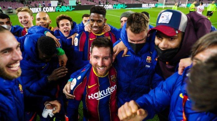Drama di Camp Nou, Bantai Sevilla 3-0, Barcelona Kunci Satu Tempat di Babak Final Copa Del Rey