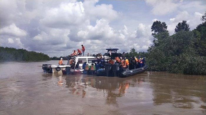 Pencarian Jahra Korban Speedboat  RyanTerbalikNihil, Tim Gabungan Terkendala Arus Sungai Deras