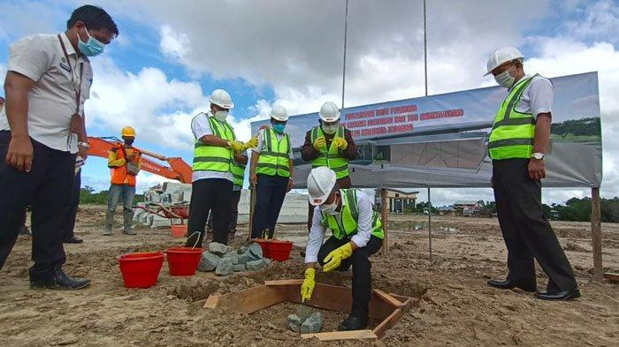 Peletakan Batu Pertama Tandai Pembangunan Gedung Tarakan Art Convention Centre Dimulai
