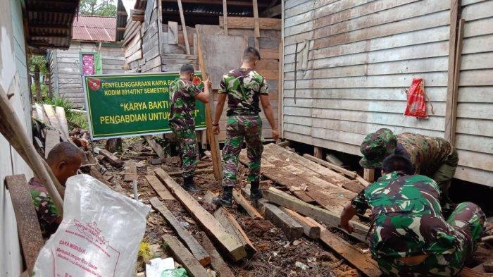 Prajurit Kodim 0914 Tana Tidung, Bedah Rumah Warga Tanah Abang