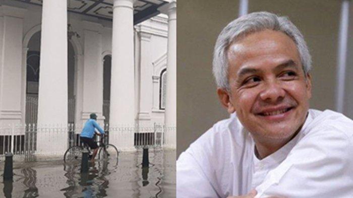 Ganjar Pranowo Akui Banjir di Semarang Salahnya dan Jelaskan Penyebabnya. Anies Baswedan Dibawa-bawa