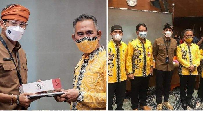 Wali Kota Tarakan bersama Menteri Pariwisata dan Ekonomi Kreatif/Badan Pariwisata dan Ekonomi Kreatif  Republik Indonesia, Sandiaga Uno saat pemaparan dan foto bersama.