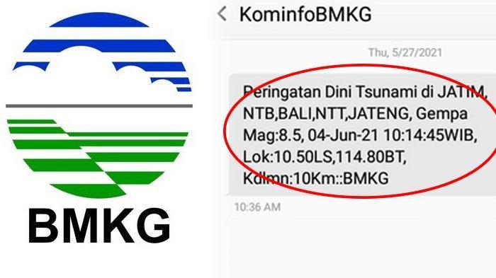 Viral SMS Peringatan Dini Gempa M 8,5 dan Tsunami, Trending di Twitter, BMKG Buru-buru Klarifikasi