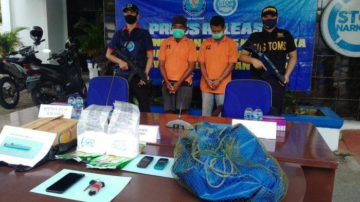 BNNP Kaltara Gagalkan Peredaran 2 Kilo Sabu Asal Malaysia, Satu Pelaku Merupakan Residivis
