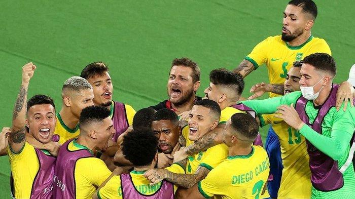 Brasil Raih Medali Emas Olimpiade Tokyo 2020, Gol Malcom Bawa Tim Samba Sejajar dengan Argentina