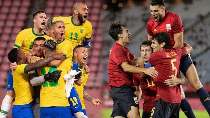 Siaran Langsung Brasil vs Spanyol, Perebutan Medali Emas Olimpiade Tokyo 2020, Tayang di TVRI