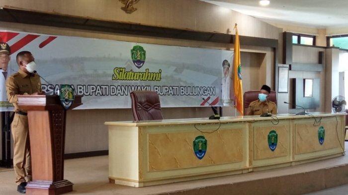 Silaturahmi Perdana Sebagai Bupati Bulungan, Syarwani Mengaku Baru Pertama Kali Kenakan Baju Dinas