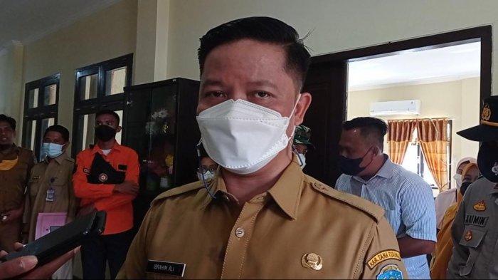 Bupati Tana Tidung, Ibrahim Ali usai tinjau vaksinasi Covid-19 bagi pelajar di Kecamatan Sesayap Hilir, Senin (20/9/2021) lalu.