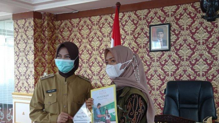 Setahun Mengajar di Perbatasan RI-Malaysia, 6 Pengajar Pamit ke Pemkab Nunukan, Temui Asmin Laura