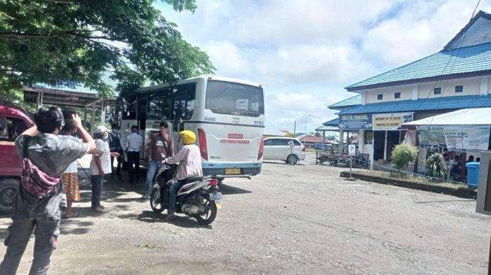 Mudik Dilarang, Bus Damri di Terminal Malinau Kota Tetap Layani Penumpang Lintas Kabupaten
